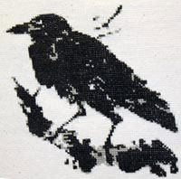 Вышивки крестом схемы ворона 34